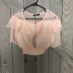 Ruffled top from Nasty Gal!